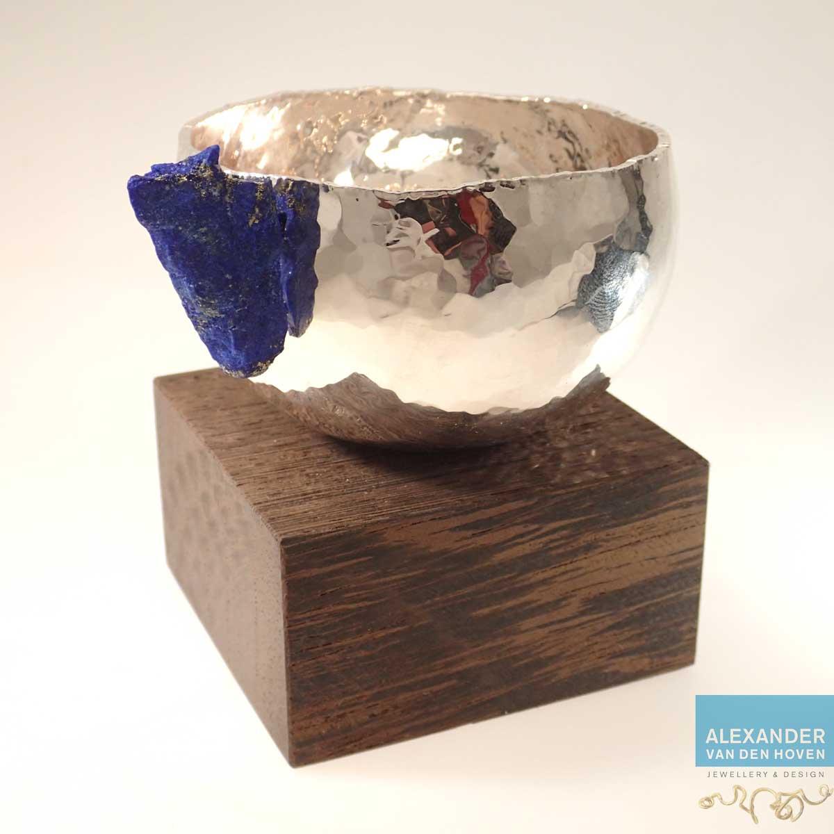 Zilverwerk met ruwe blauwe Lapis Lazuli