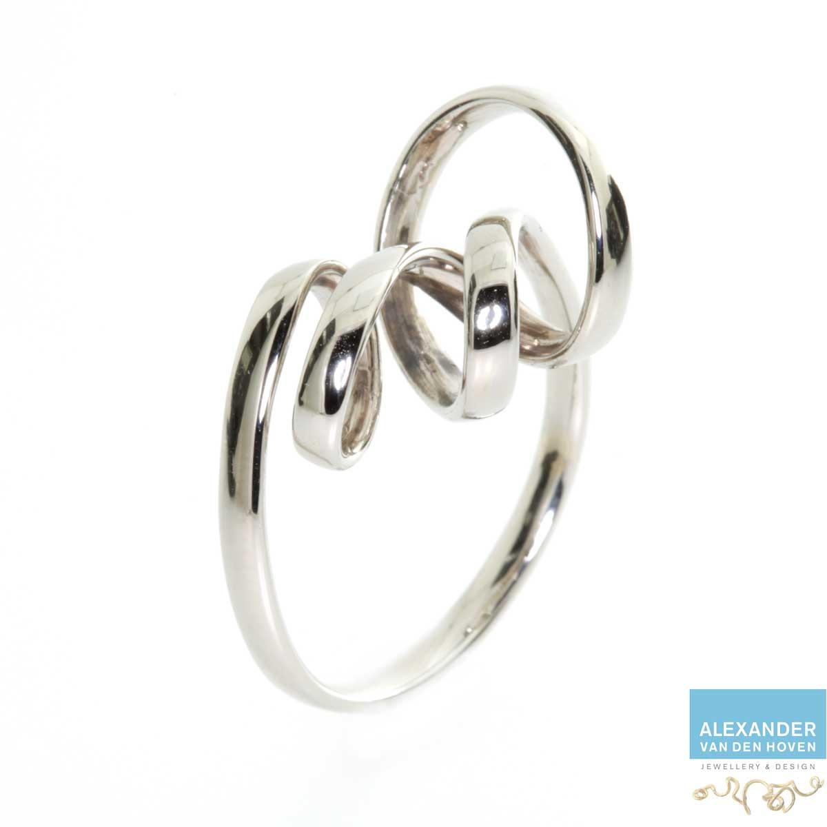 Witgouden Vivianna ring