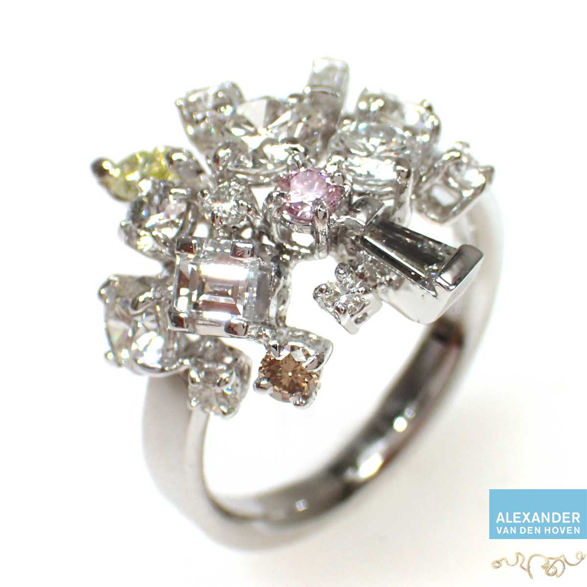Briljant-ring-Diamant-Cluster-rose