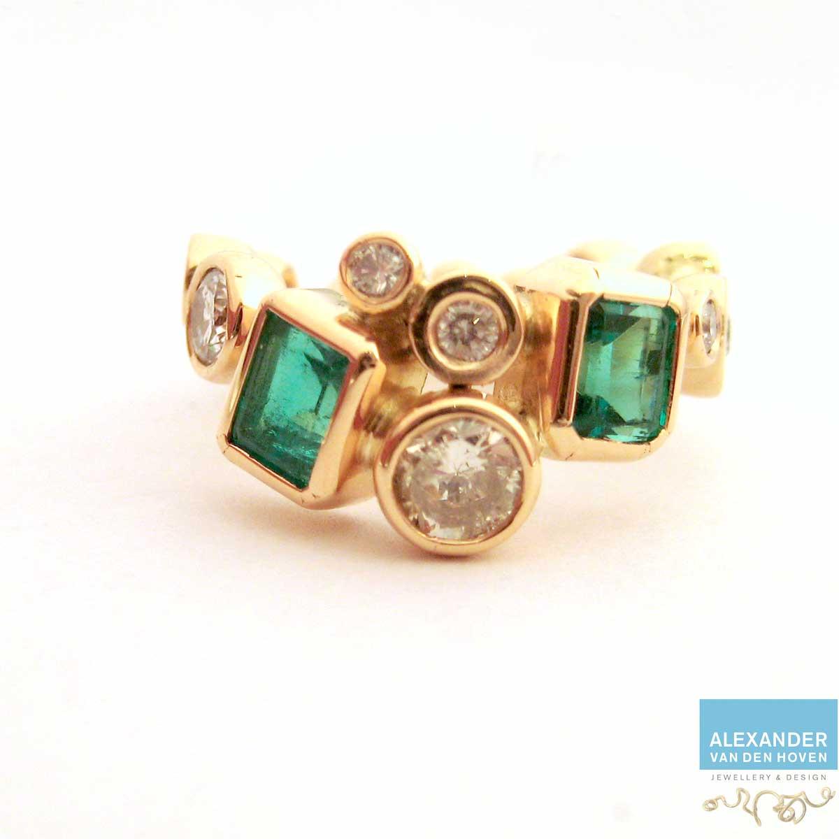 gouden-ring-diamant-en-smaragd