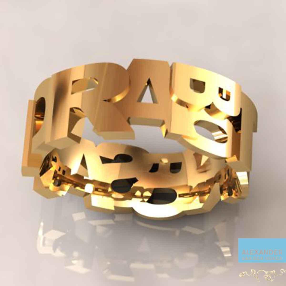 Gouden-ring-naam-letters-arnhem-goudsmid
