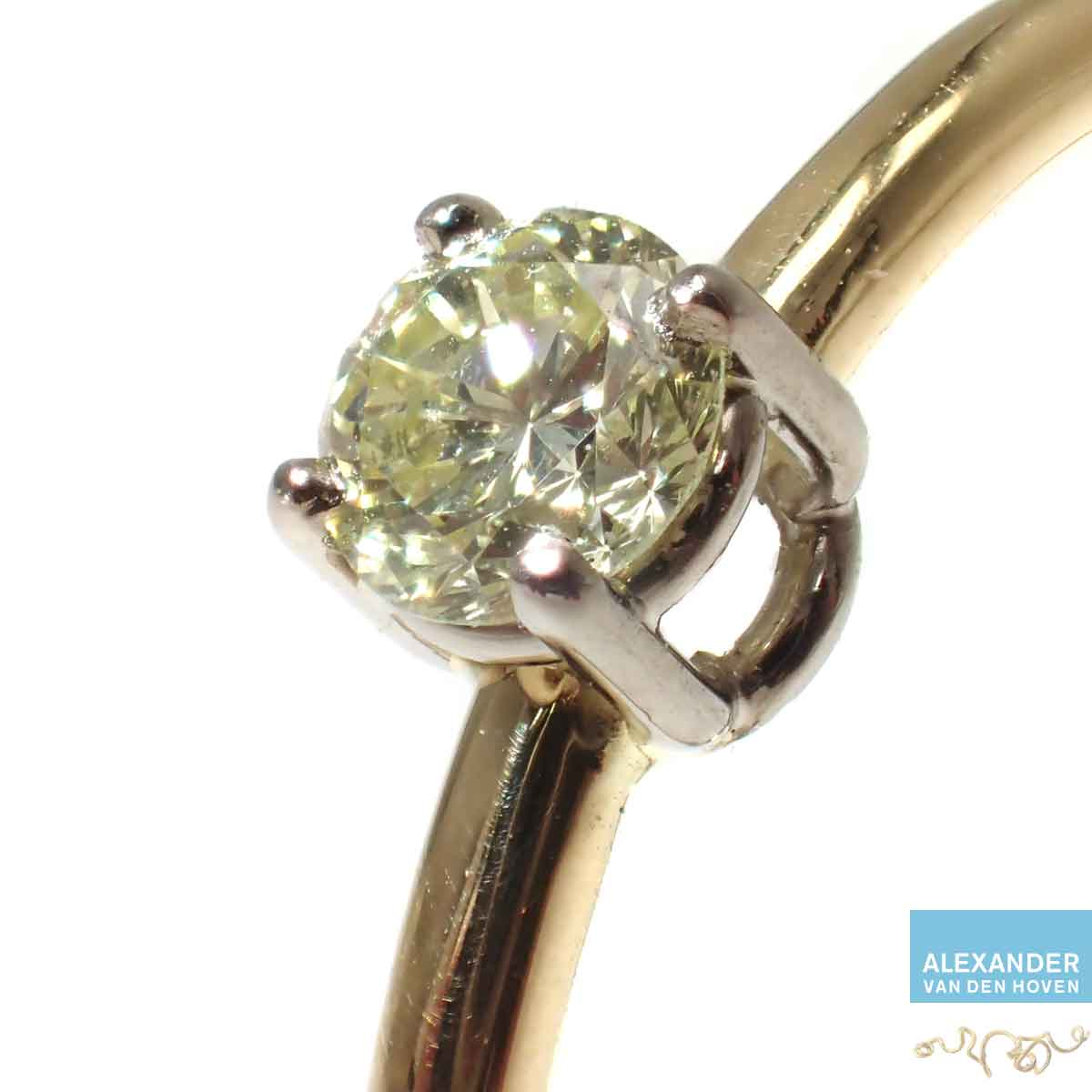 Solitair-ring-Yellow-Diamond-Diamant