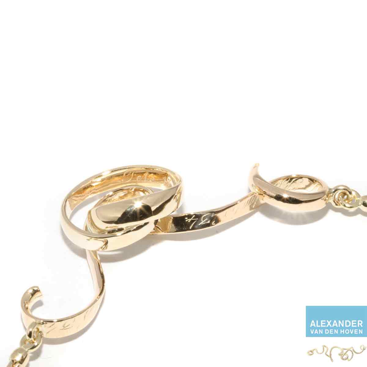 Trouwring-halssieraad-goud