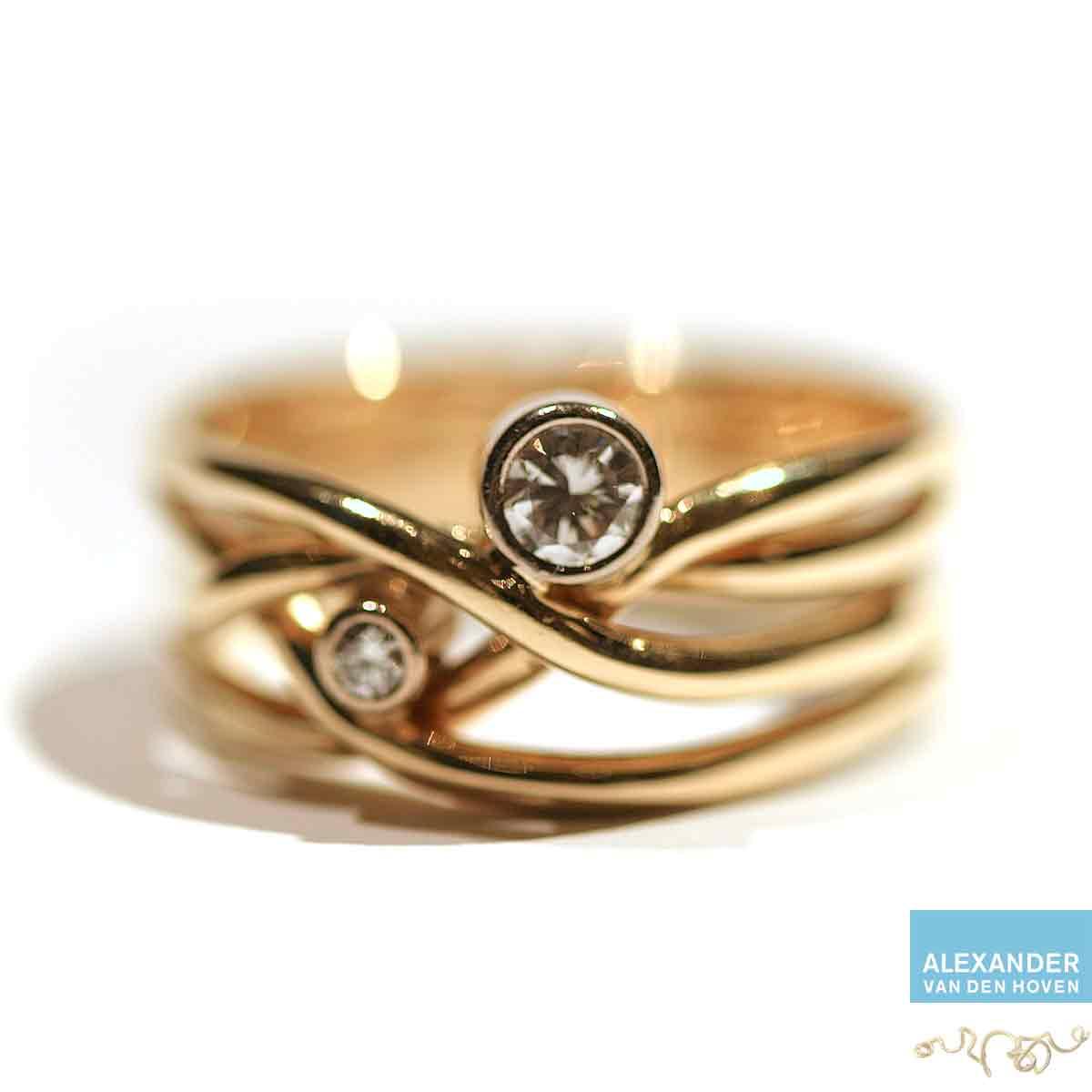 Trouwring-veranderen-gevlochten-vlechtwerk-Diamant