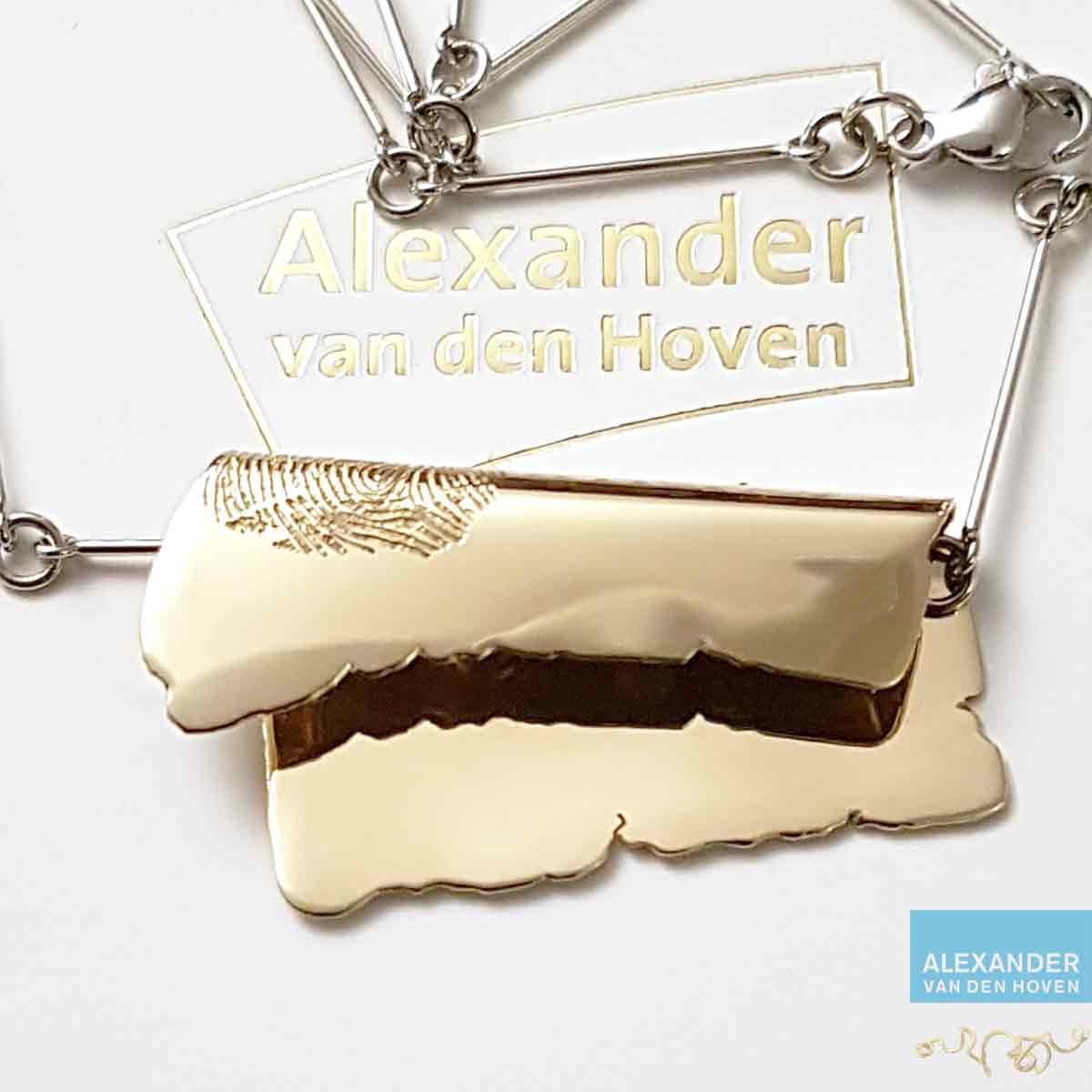 gouden-collier-as-vingerafdruk-Arnhem