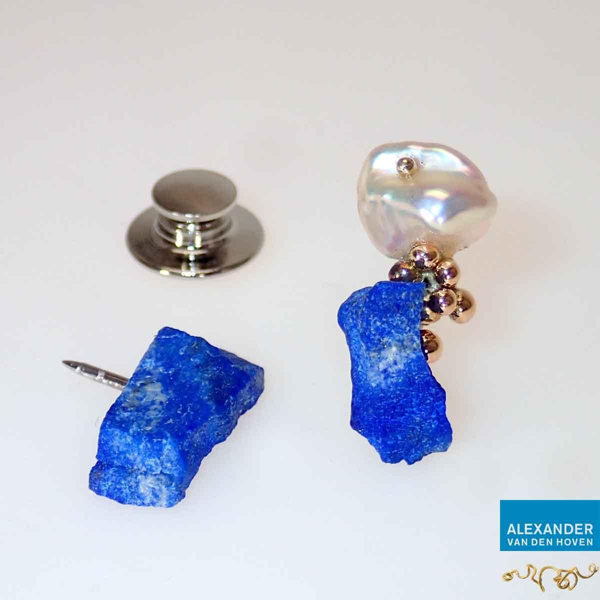 Pin-goud-Lapis-Lazuli-Parel-speldje-zilver-2