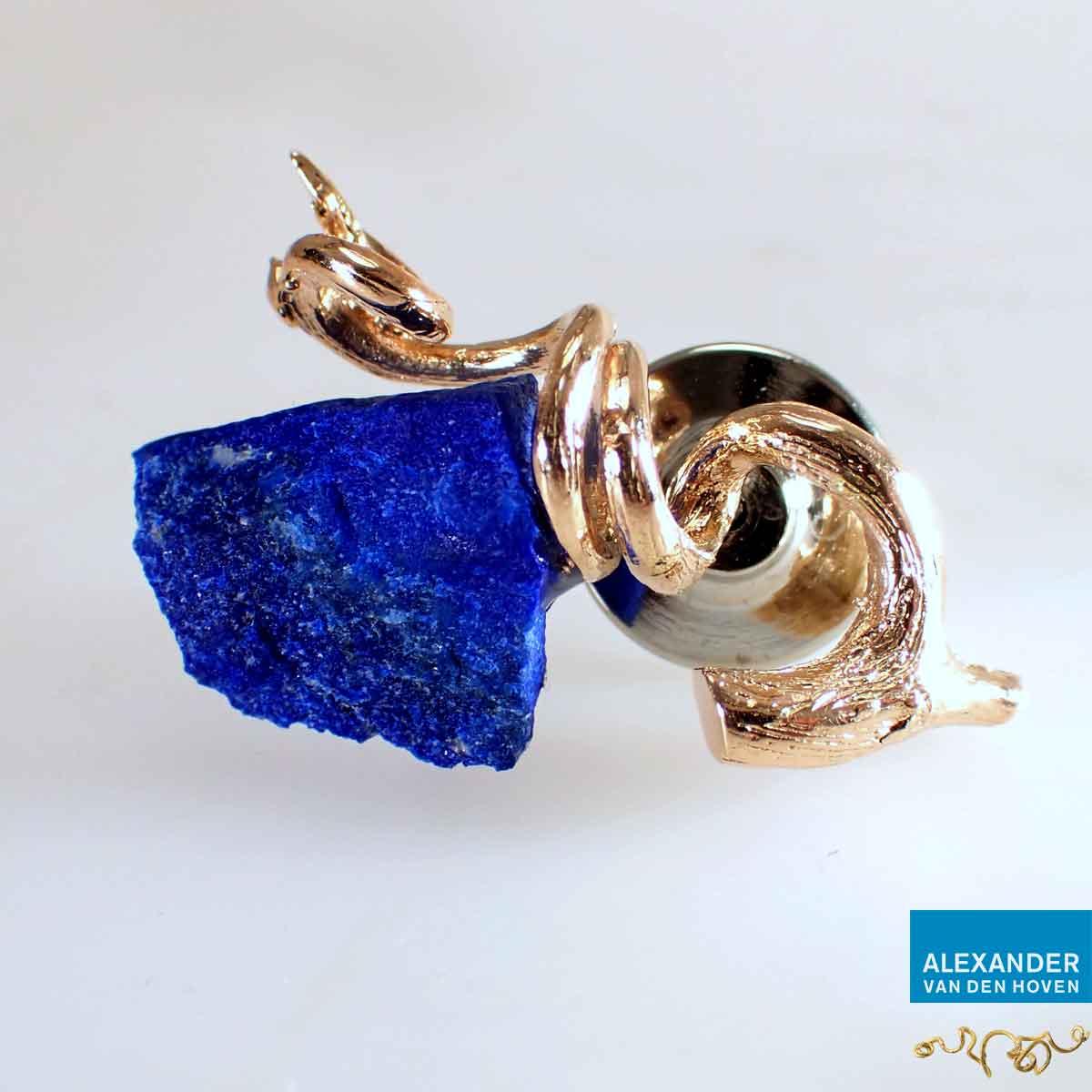 Pin-roodgoud-Lapis-Lazuli