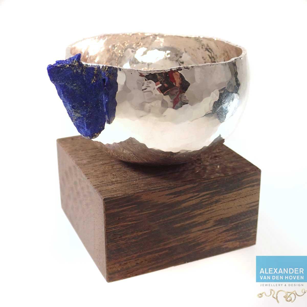 Zilveren-bakje-Lapis-Lazuli-Wenge-2