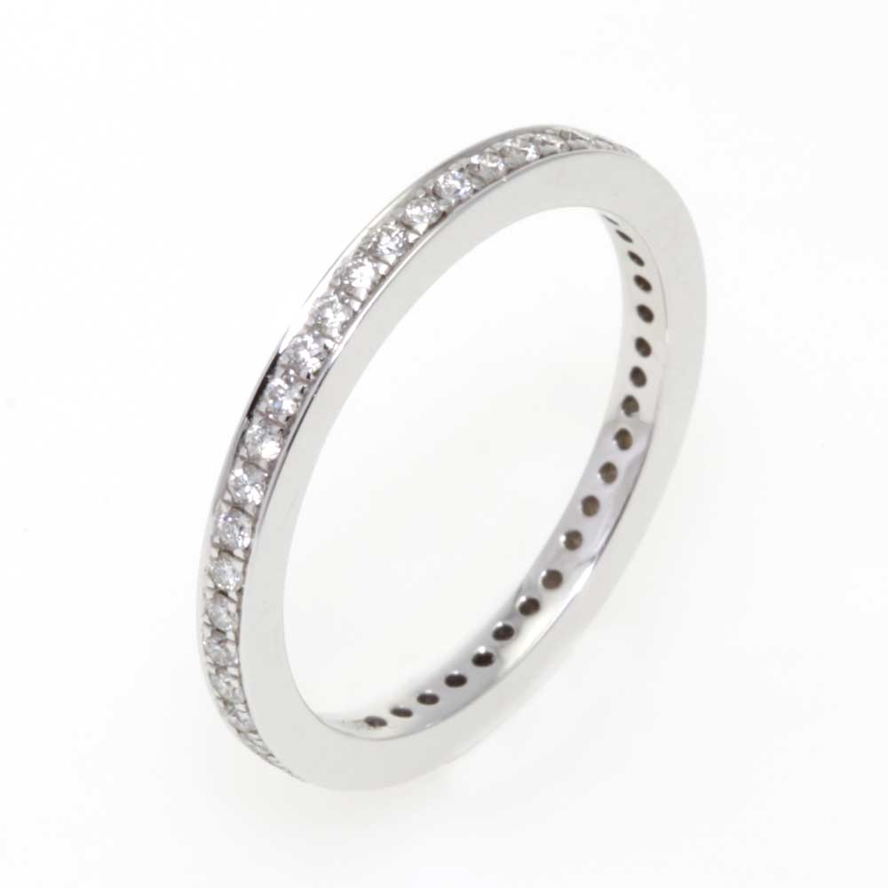 Platina verlovingsring trouwring met briljanten diamanten alliance-ring