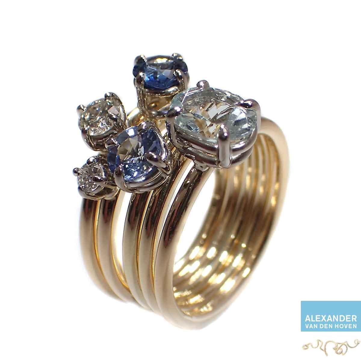 Gouden-ringen-met-Diamanten-Saffier