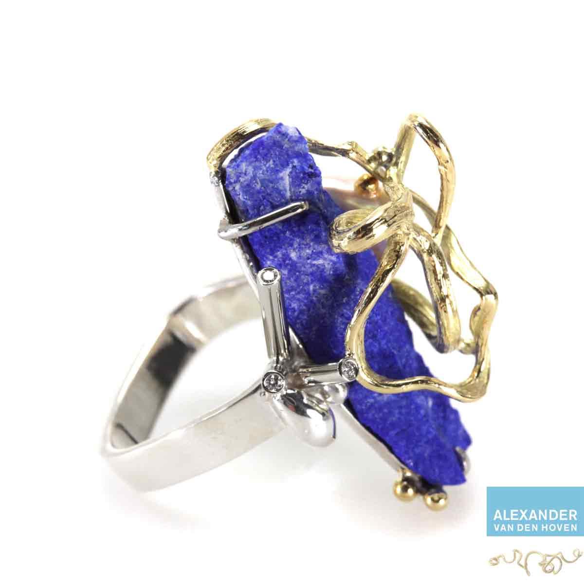 Geelgouden-ring-Lapis-Lazuli-Diamanten