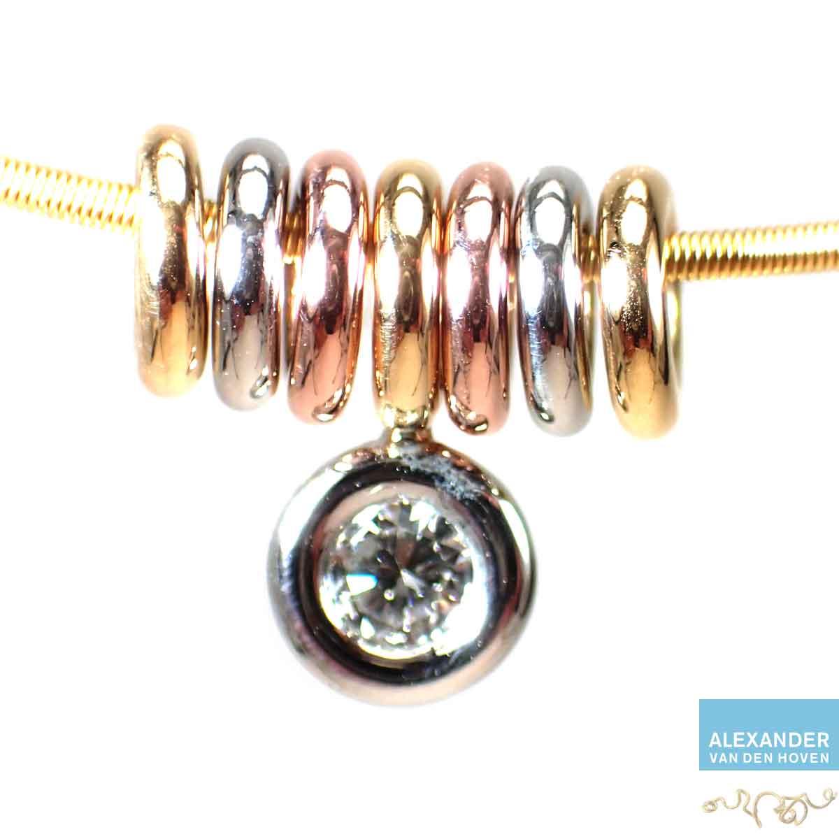 Gouden-hanger-Diamant-geelgoud-platina