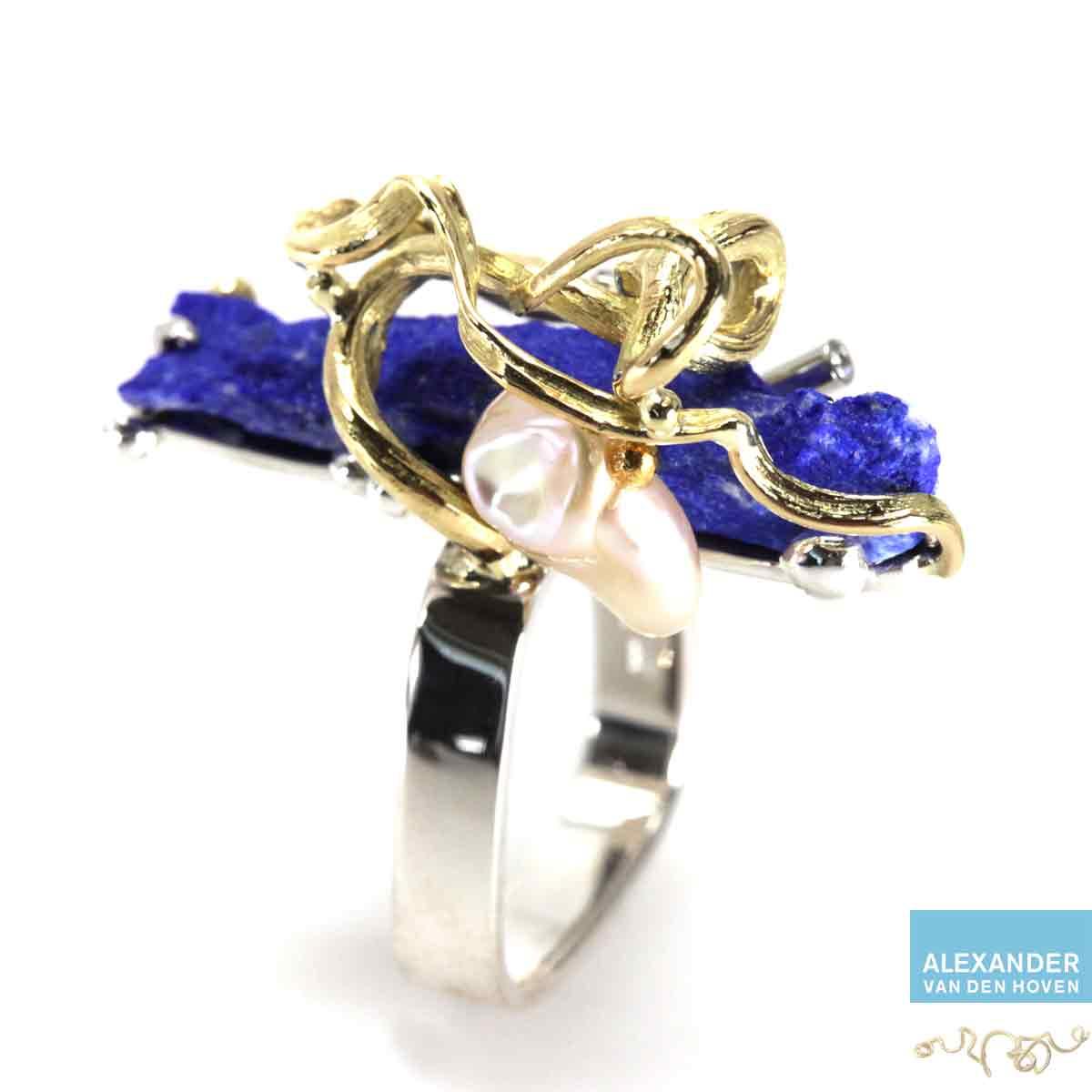 Gouden-ring-Lapis-Lazuli-Diamanten