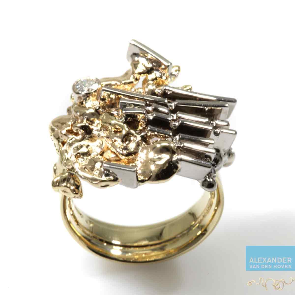 Geelgouden-ring-vingerafdruk