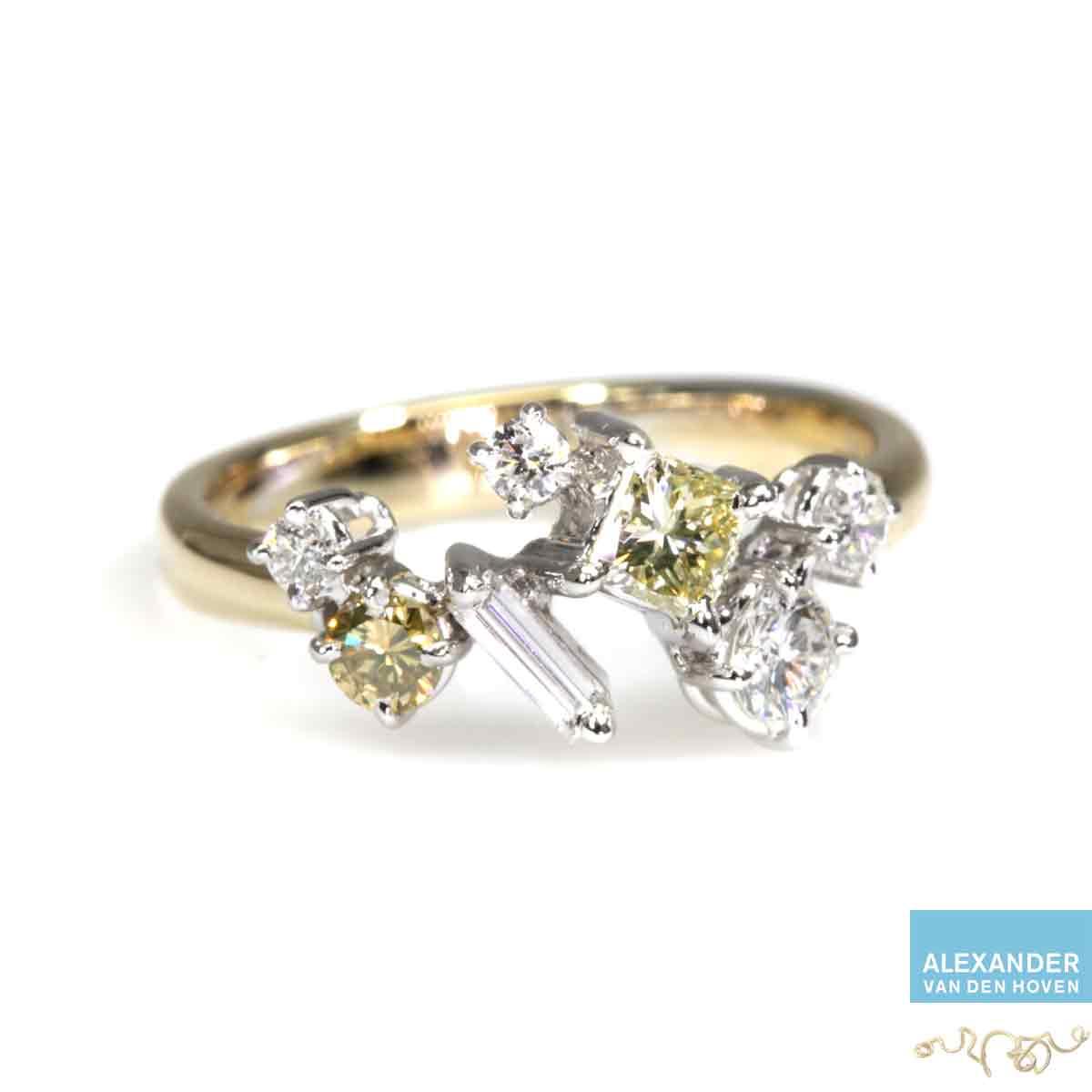 gouden-fantasie-alliance-ring-diamant-briljant-yellow-diamond