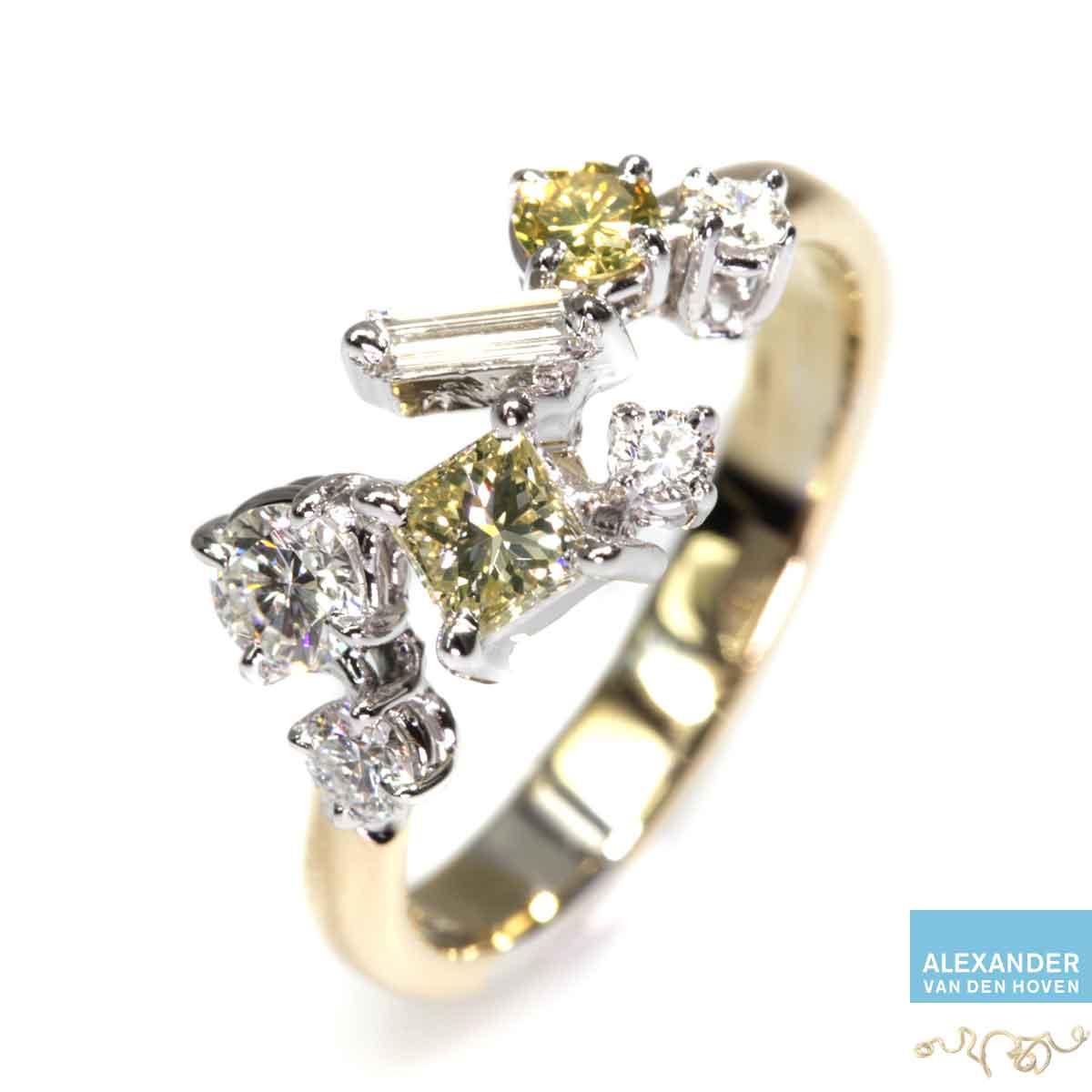 gouden-fantasie-ring-diamant-briljant-gele-yellow-diamond