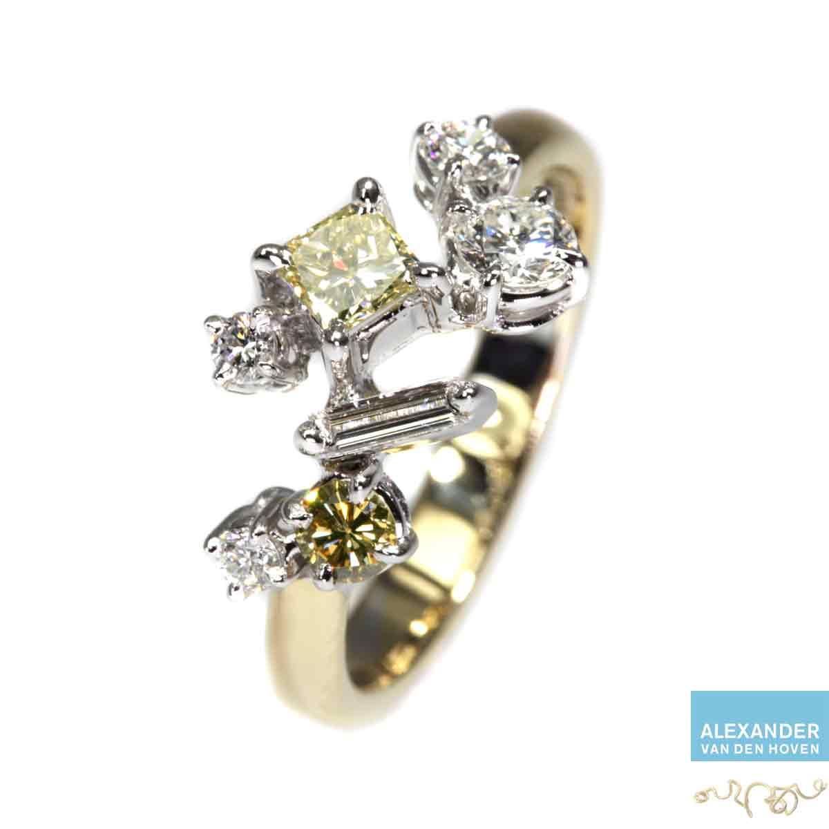 gouden-fantasie-ring-diamant-briljant-yellow-diamond