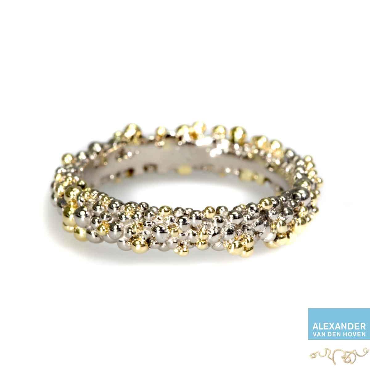 bolletjes-ring-witgoud-geelgoud-nuggets-granules