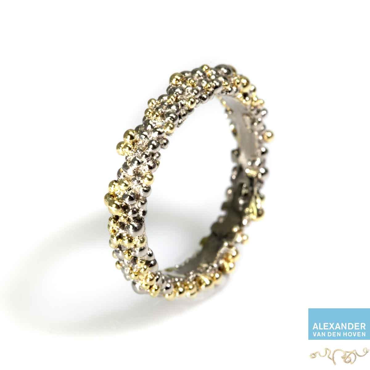 bolletjes-ring-witgoud-platina-korrels-granules